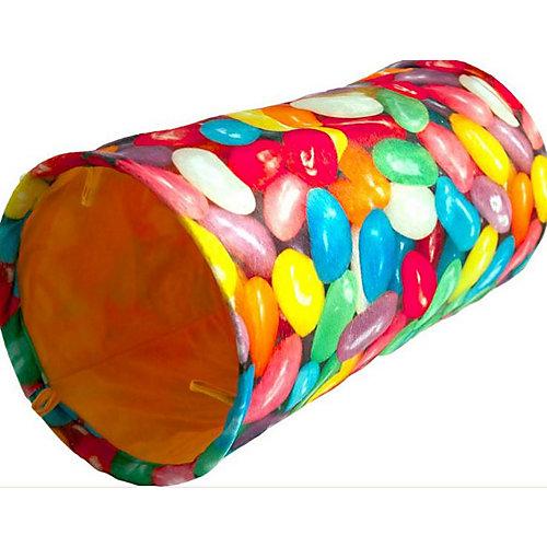 Jelly Bean Cat Tunnel 25 Cm X 100 Cm. Fleece W/Crinkling Noise