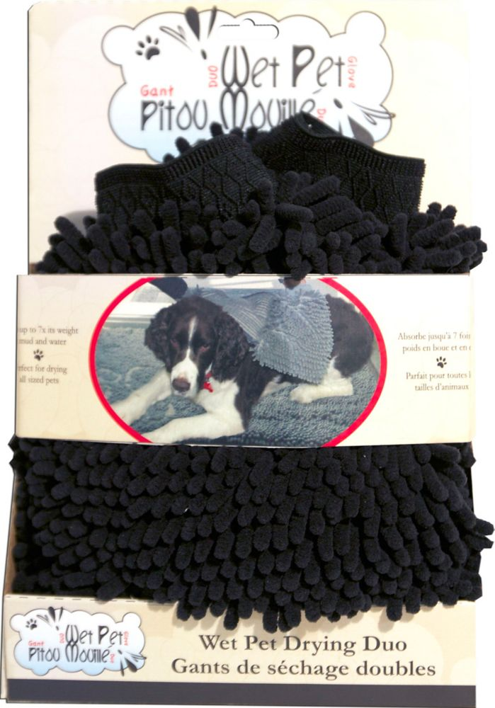 Danazoo 73995 Chenille Wet Pet Duo Black