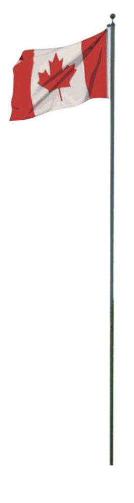 20 Feet Sectional Aluminum Flagpole With Canadian Flag