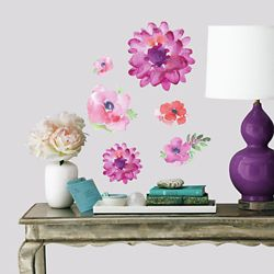 RoomMates KD Watercolour Blooms Wall Decals