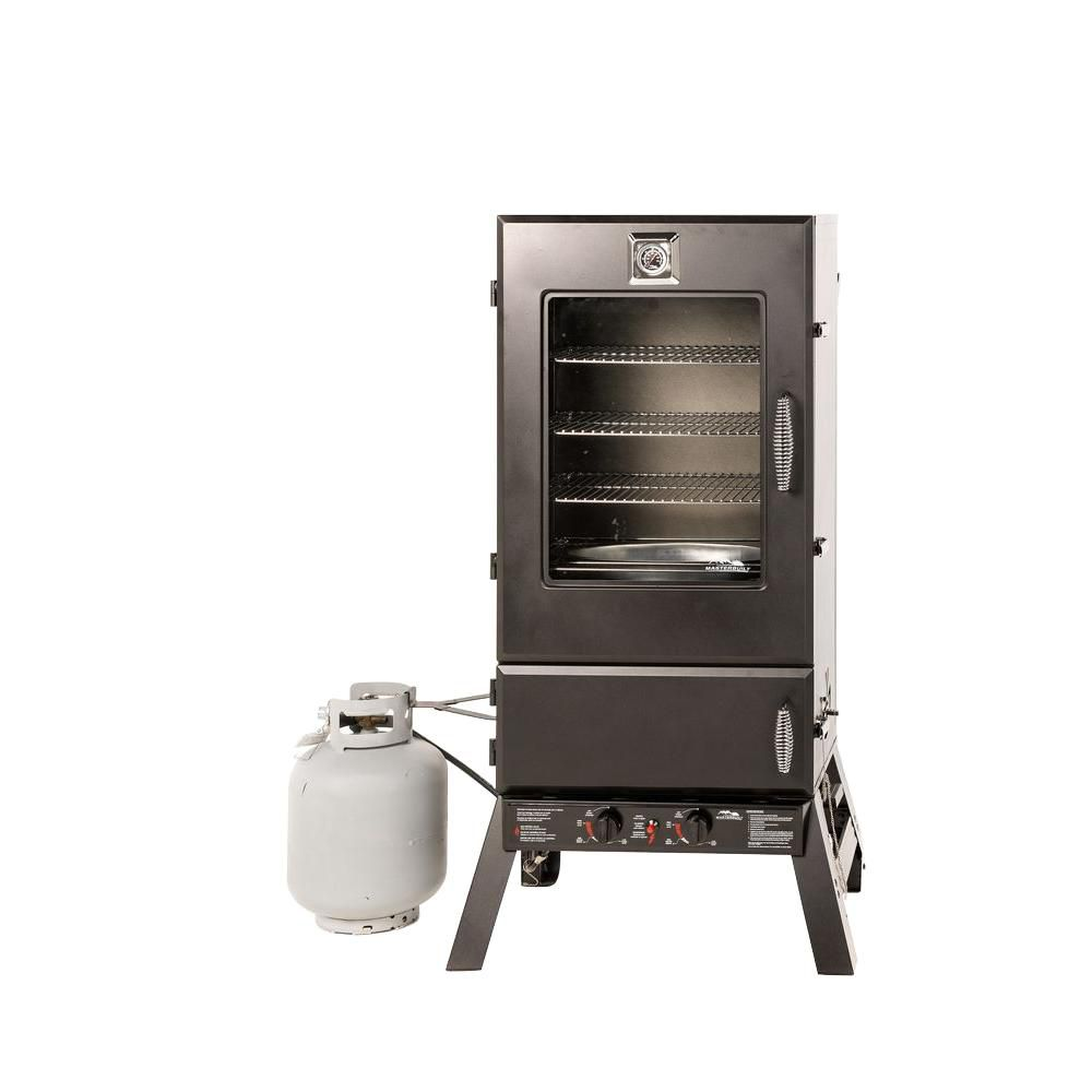 Masterbuilt 44-inch 100 lb. Capacity Gas Smoker with Push-Button Ignition