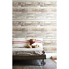 Distressed Wood P & S Wallpaper
