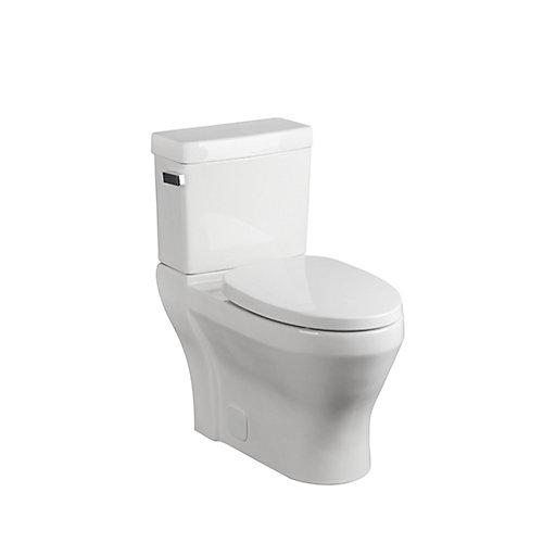Toilette allongée, 2 pièces, 4,8 L, blanc