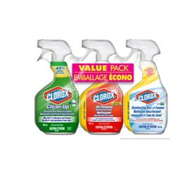 Clorox 3-Piece Cleaning Spray Value Pack: Bleach Cleaner, All Purpose Disinfecting Cleaner, and Disinfecting Bleach Foamer