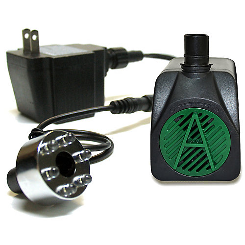 90 GPH Pump with 6-LED Light