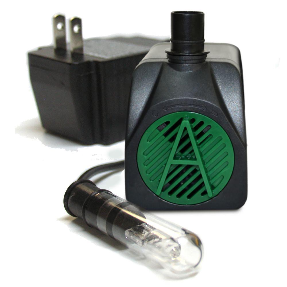 Pompe de 340 LPH avec lumière d'appoint - 10 watts.
