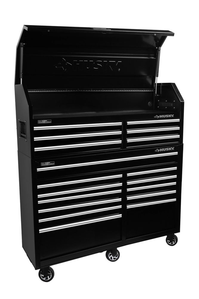 HUSKY 60-inch 18-Drawer Tool Chest and Cabinet Set