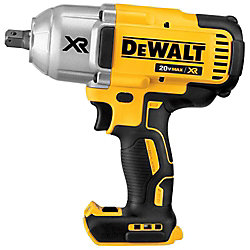 DEWALT 20V Max XR Lithium-Ion 1/2-inch Cordless Impact Wrench Kit with Detent Pin Anvil (Tool-Only)
