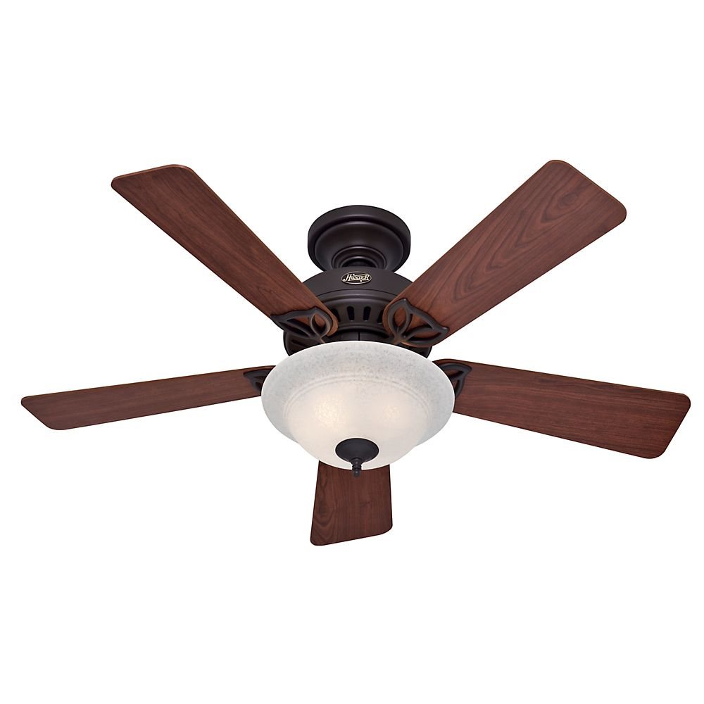 "Hunter Auberville 44"" Bronze Ceiling Fan"