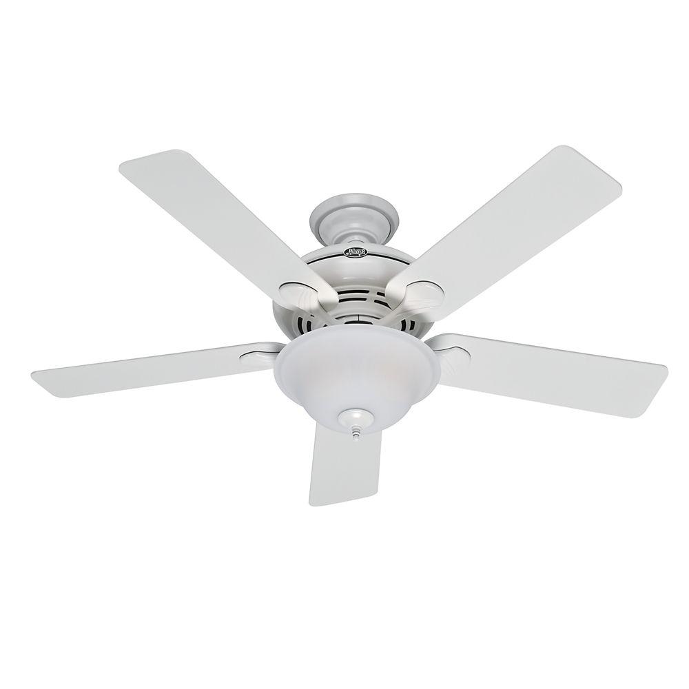 """Hunter Yonge Street 52"""" White Ceiling Fan"""