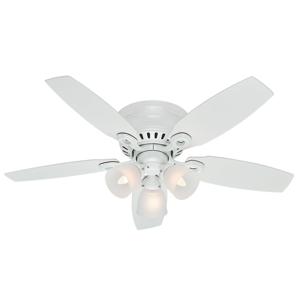 Lights ceiling fans modern rustic more the home depot canada hunter hatherton 46 inch white indoor ceiling fan aloadofball Image collections