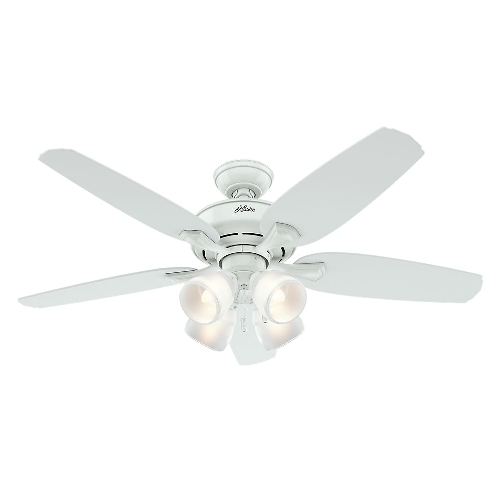 Hunter Channing 52  Inch  White Indoor Ceiling Fan