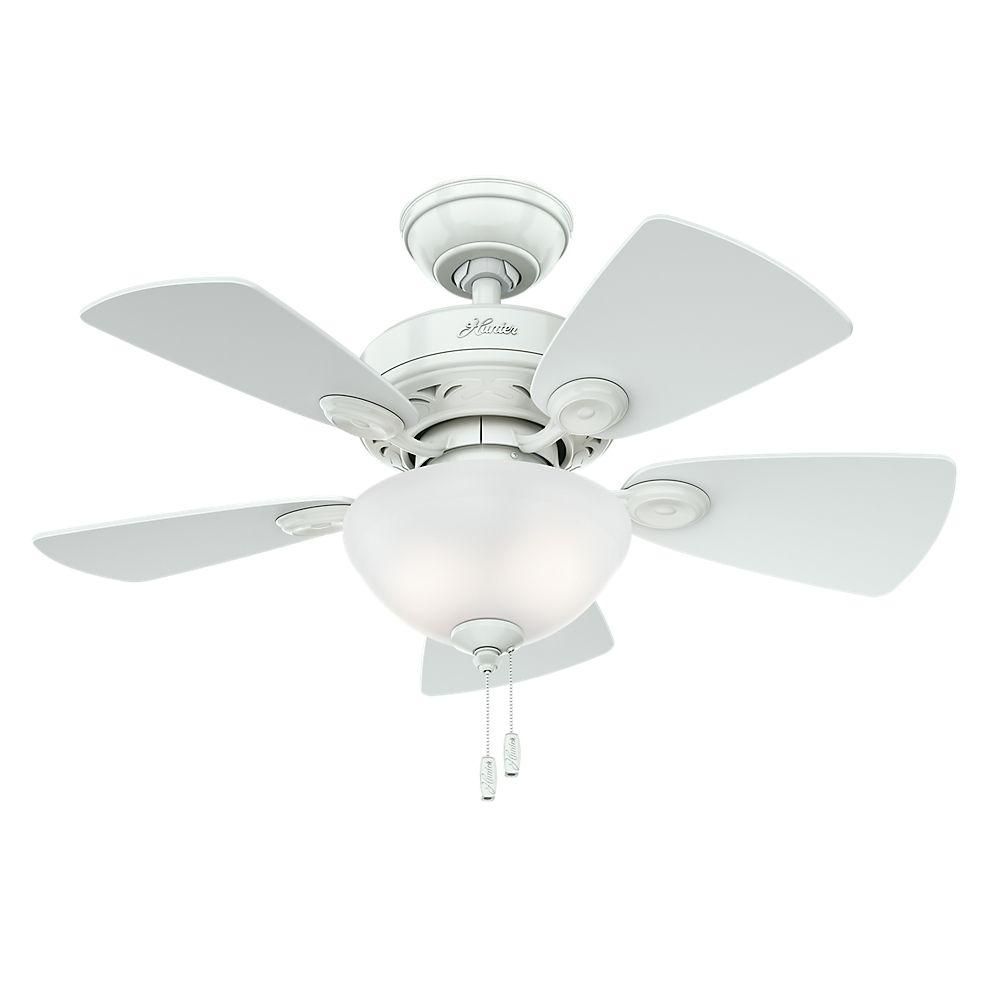 Hunter Watson 34  Inch  White Indoor Ceiling Fan