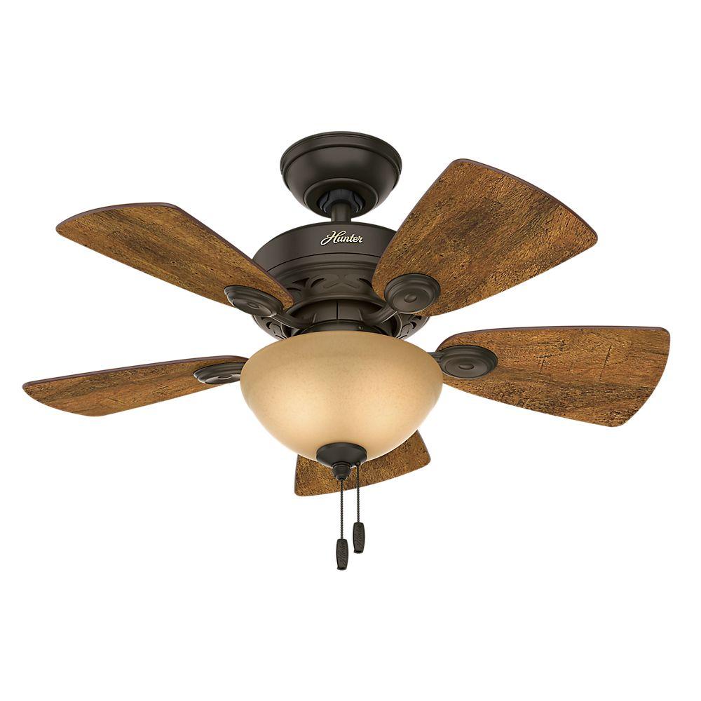 Hunter Watson 34  Inch  New Bronze Indoor Ceiling Fan