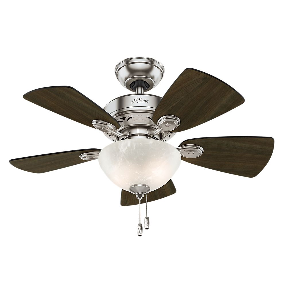 Hunter Watson 34  Inch  Brushed Nickle Ceiling Fan