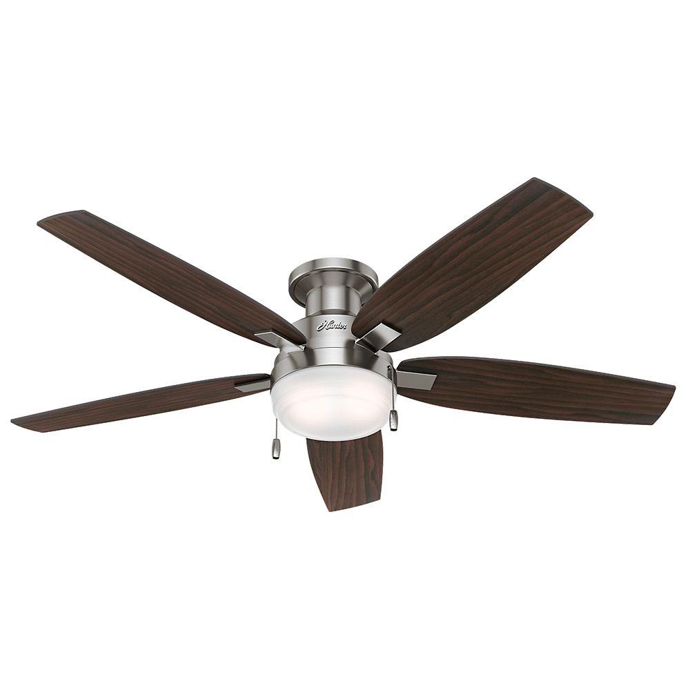 Hunter Duncan 52 Inch Indoor Brushed Nickel Ceiling Fan