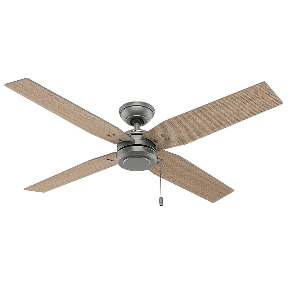 Hunter Commerce 54 Inch  Outdoor/Indoor Matte Silver Ceiling Fan
