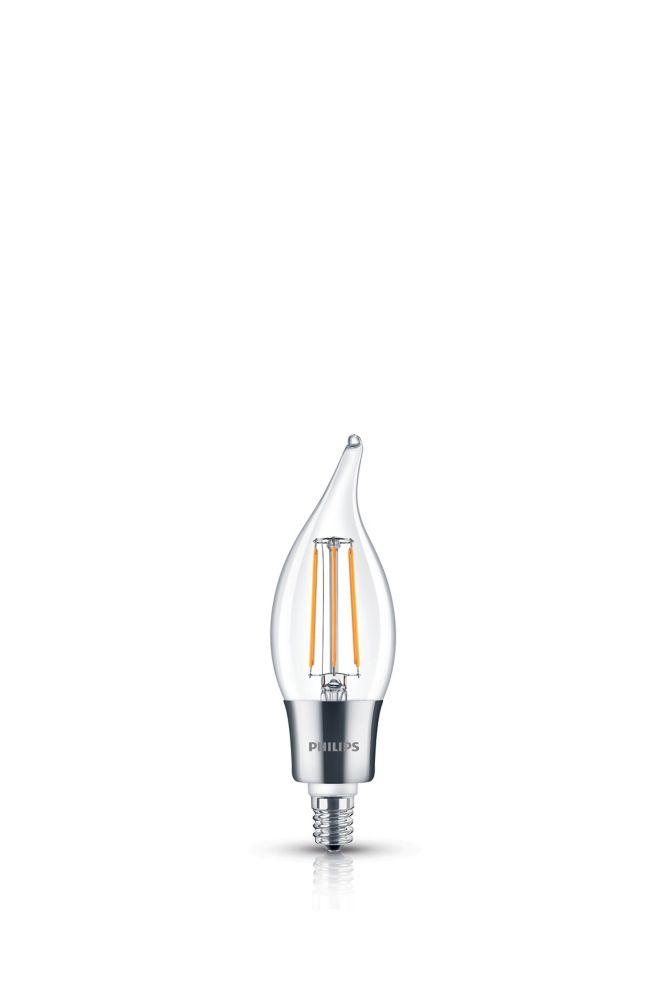 DEL 40W Lampe Flamme BA11 Vintage Filament Claire (2 200 K)