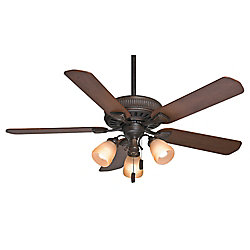 Casablanca Ainsworth Gallery 54-inch Indoor Onyx Bengal Bronze Ceiling Fan with Light