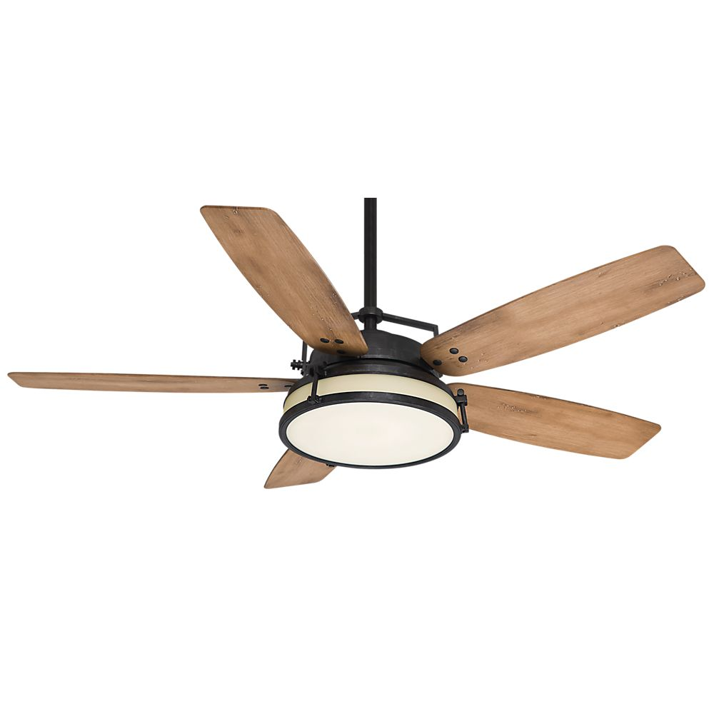 Casablanca Caneel Bay 56 Inch  Aged Steel Indoor/Outdoor Ceiling Fan with 4 speed wall-mount cont...