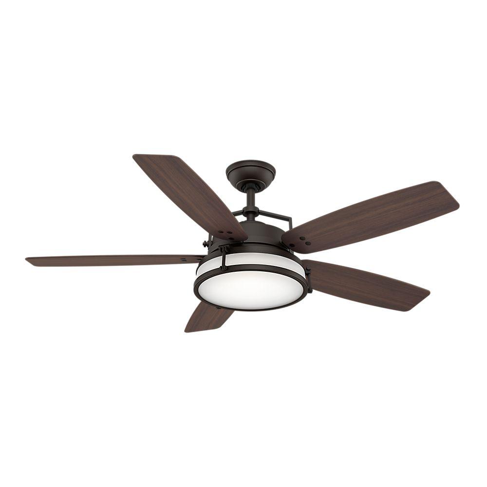 Casablanca Caneel Bay 56 Inch  Maiden Bronze Indoor/Outdoor Ceiling Fan with 4 speed wall control...