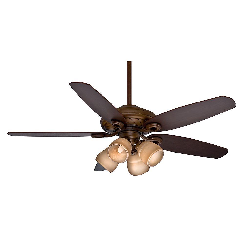 Casablanca Capistrano Gallery 52 Inch  Acadia Indoor Ceiling Fan with 4 speed wall mount control