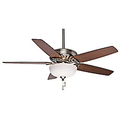 Casablanca Concentra Gallery 54-inch Indoor Brushed Nickel Ceiling Fan with Light