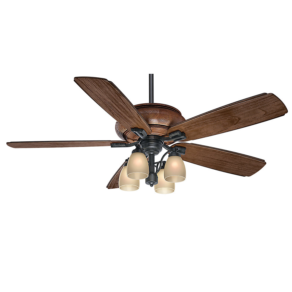 Heathridge 60-inch Outdoor/Indoor 4-Speed Ceiling Fan in Aged Steel with Wall Control