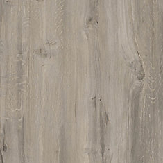 Latte pour plancher, vinyle de luxe, 7,5po x 47,6po, Chêne Sawn gris, 19,8 pi2/boîte