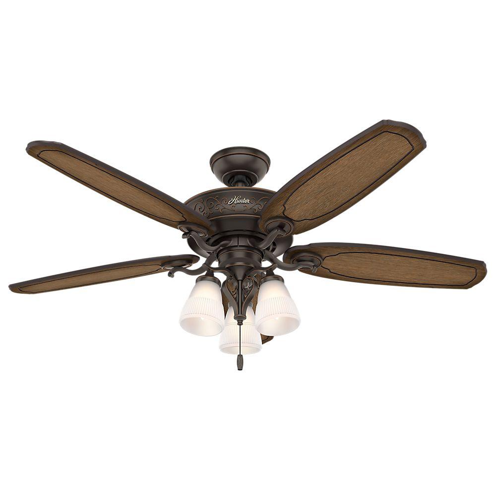 Hunter Osbourne 54 Inch  Indoor Onyx Bengal Ceiling Fan