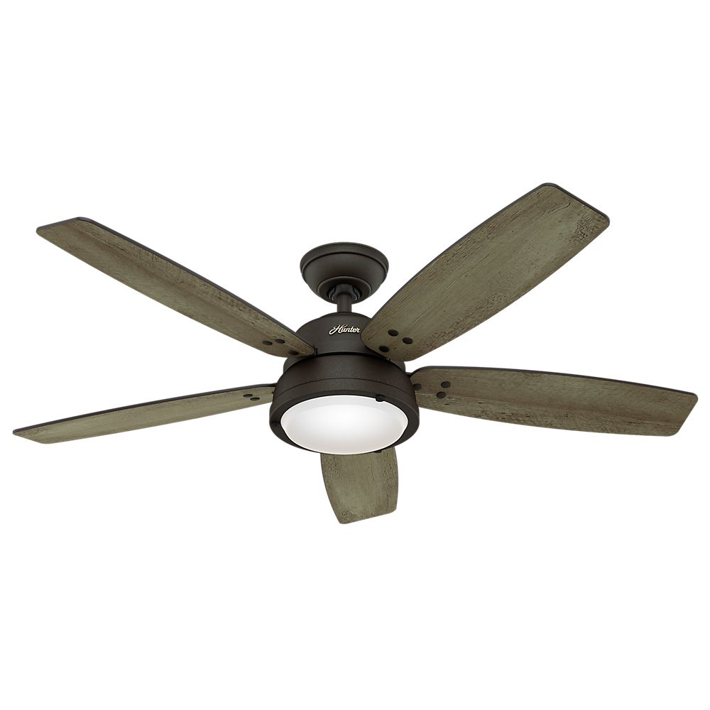 Hunter Channelside 52 Inch  LED Outdoor/Indoor Noble Bronze Ceiling Fan