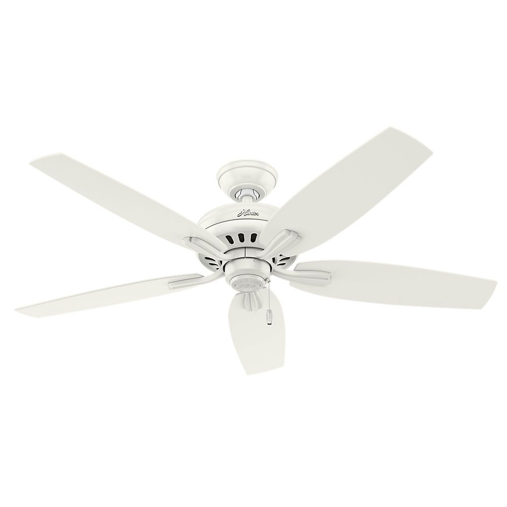 Hunter Newsome 52 Inch  White No light Ceiling Fan