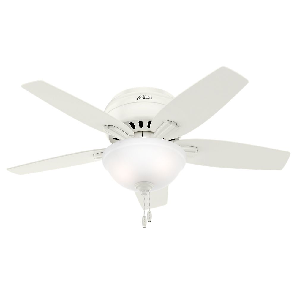 Ceiling fans hampton bay hunter more the home depot canada hunter newsome 42 inch low profile white ceiling fan mozeypictures Gallery