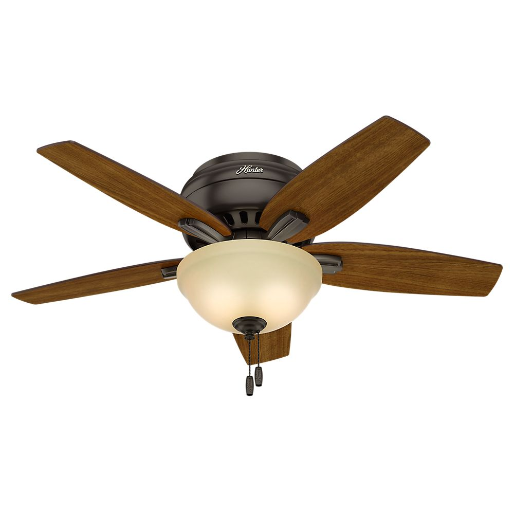 Hunter Newsome 42 Inch Low Profile Premier Bronze Ceiling Fan