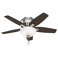 Hunter Newsome 42-inch Low Profile Brushed Nickle Ceiling Fan
