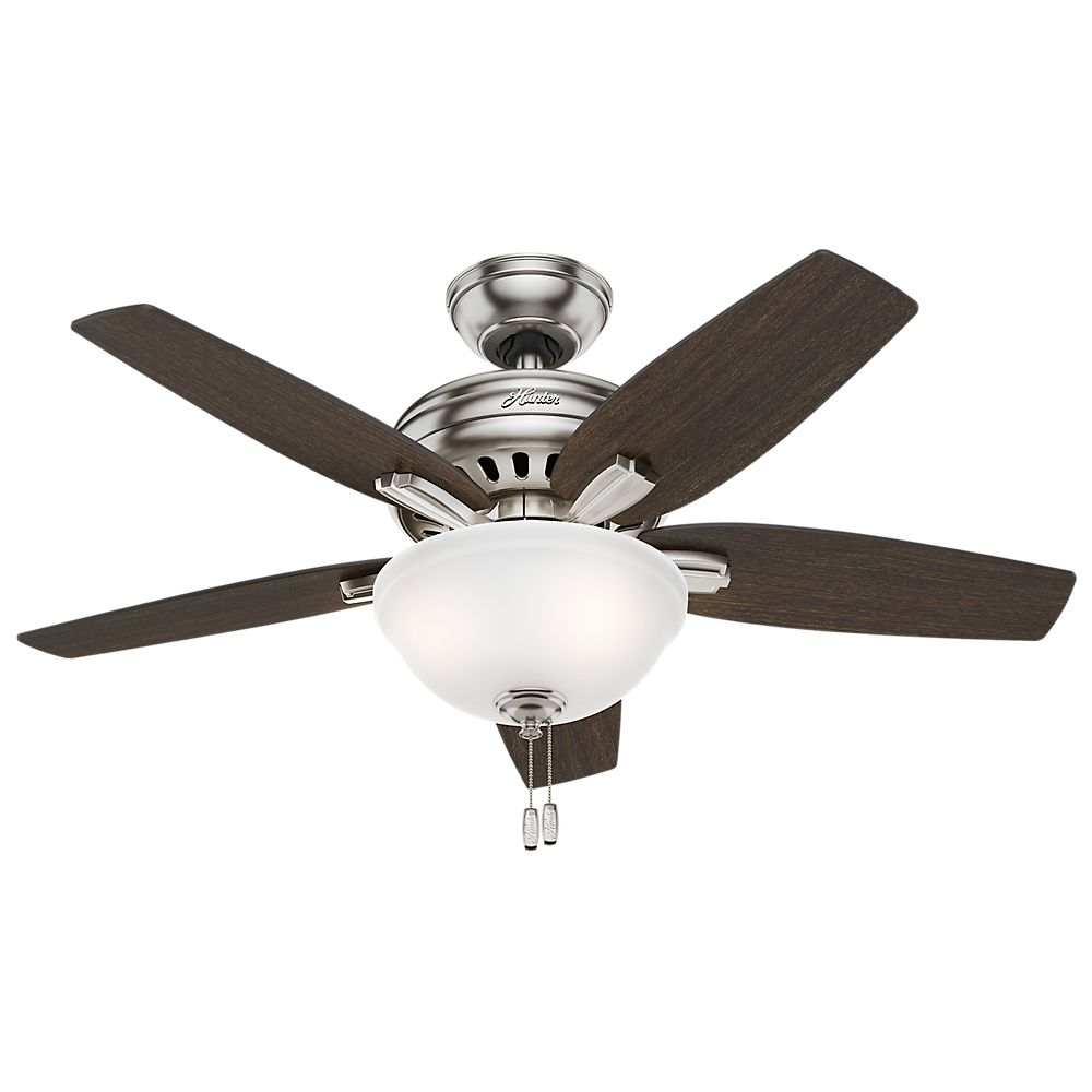 Hunter Newsome 42 Inch  Brushed Nickle Ceiling Fan