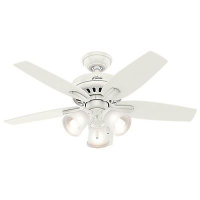 Hunter Newsome 42 Inch White Ceiling Fan With 3 Lights The Home Depot Canada