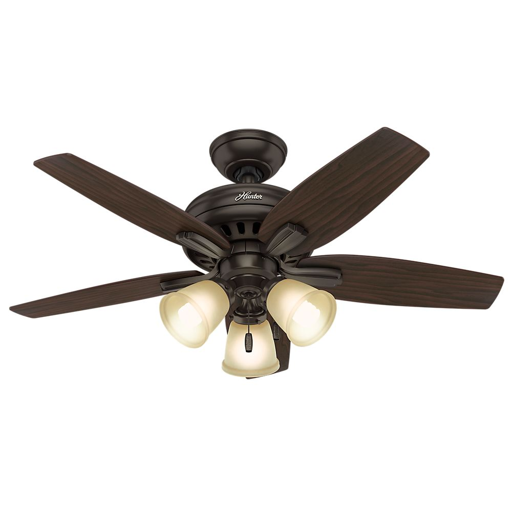 Hunter Newsome 42 Inch Premier Bronze Ceiling Fan with 3 lights