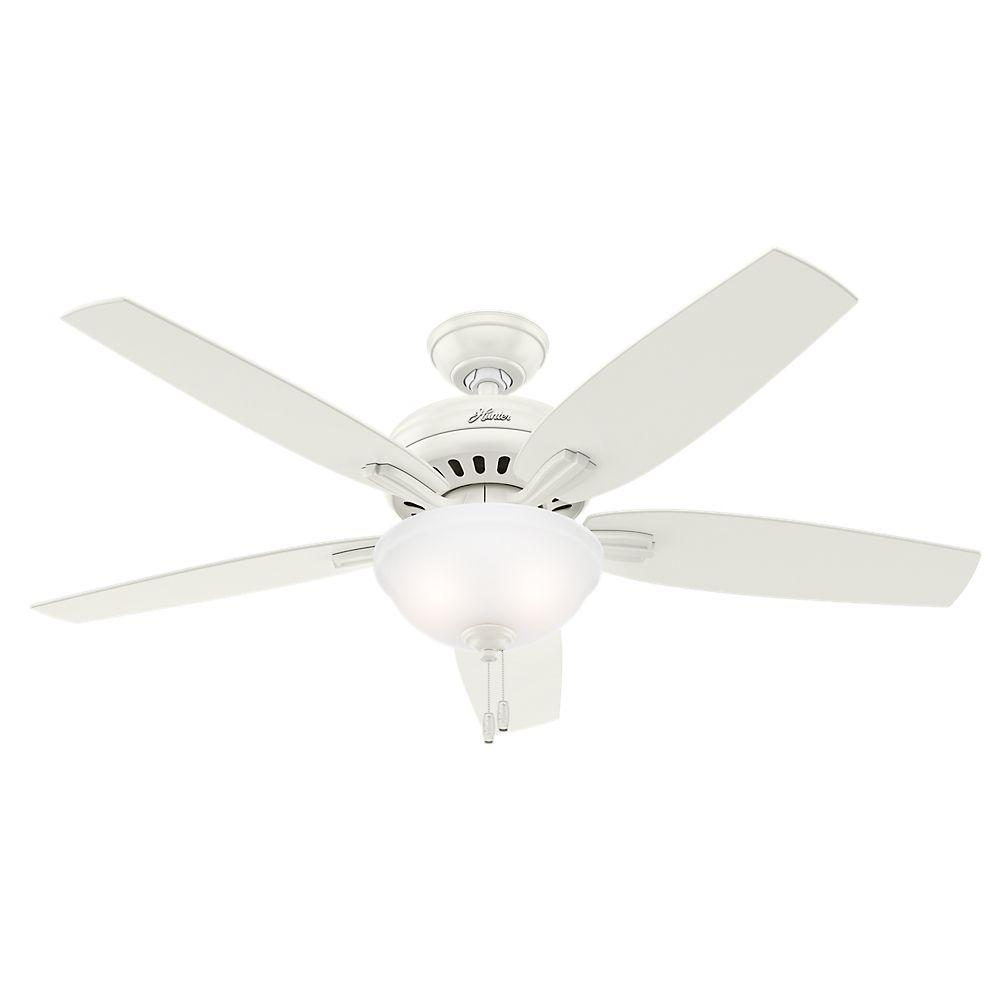 Hunter Newsome 52po Blanc Ventilateur de plafond