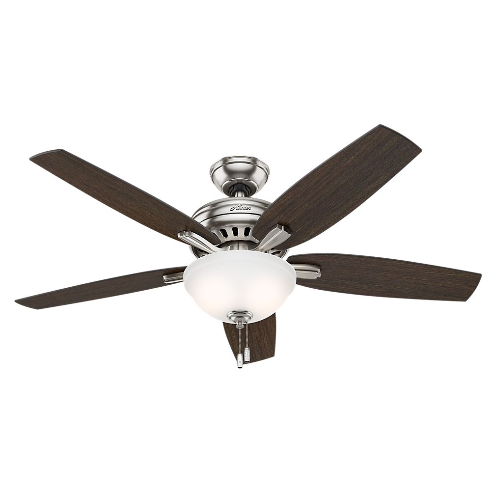 Hunter Newsome 52 Inch Brushed Nickle Ceiling Fan