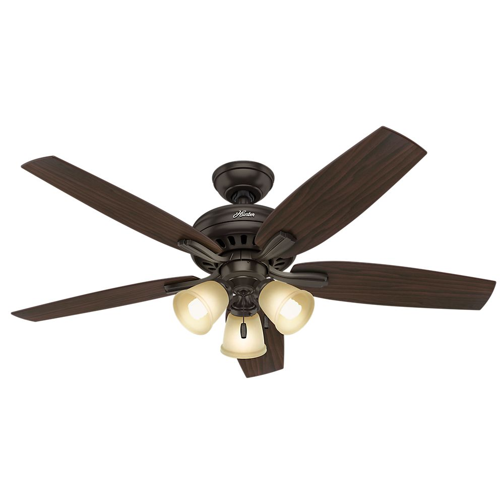 Hunter Newsome 52 Inch  Premier Bronze 3-light Ceiling Fan