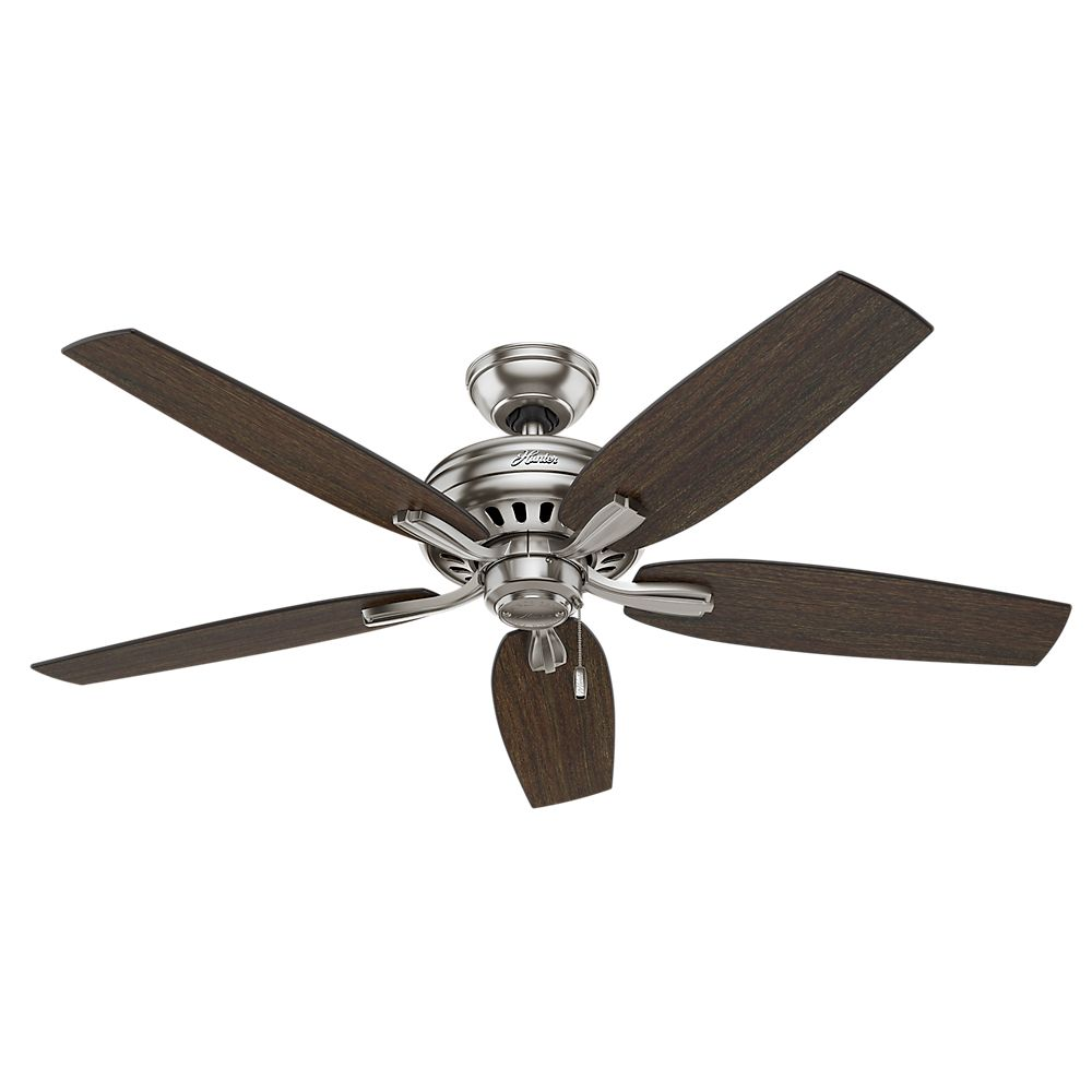 Hunter Newsome 52 Inch  Brushed Nickle No light Ceiling Fan