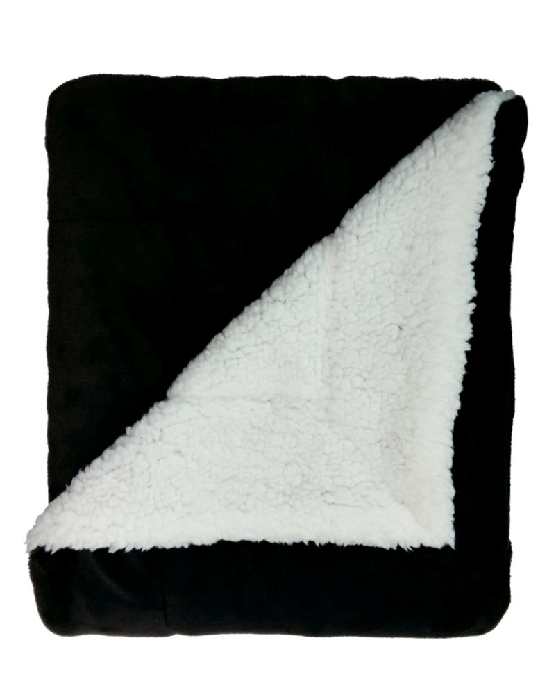 Flannel and Sherpa Throw
