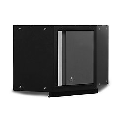 NewAge Products Inc. Bold 3 Series 19-1/2-inch H x 21-inch W x 21-inch D 24-Gauge Steel Corner Wall Cabinet in Grey