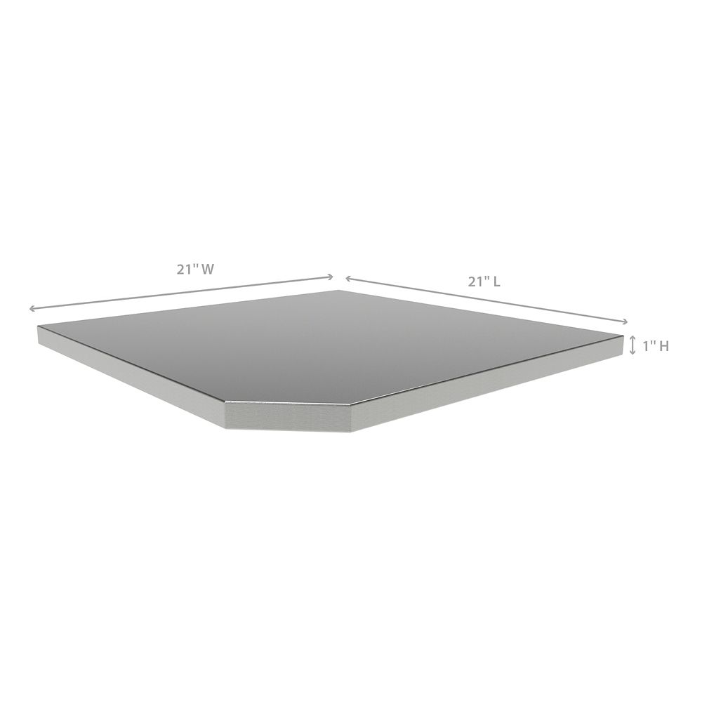 NewAge Products Bold 3.0 and Performance 2.0 Series Corner Stainless Steel  Worktop