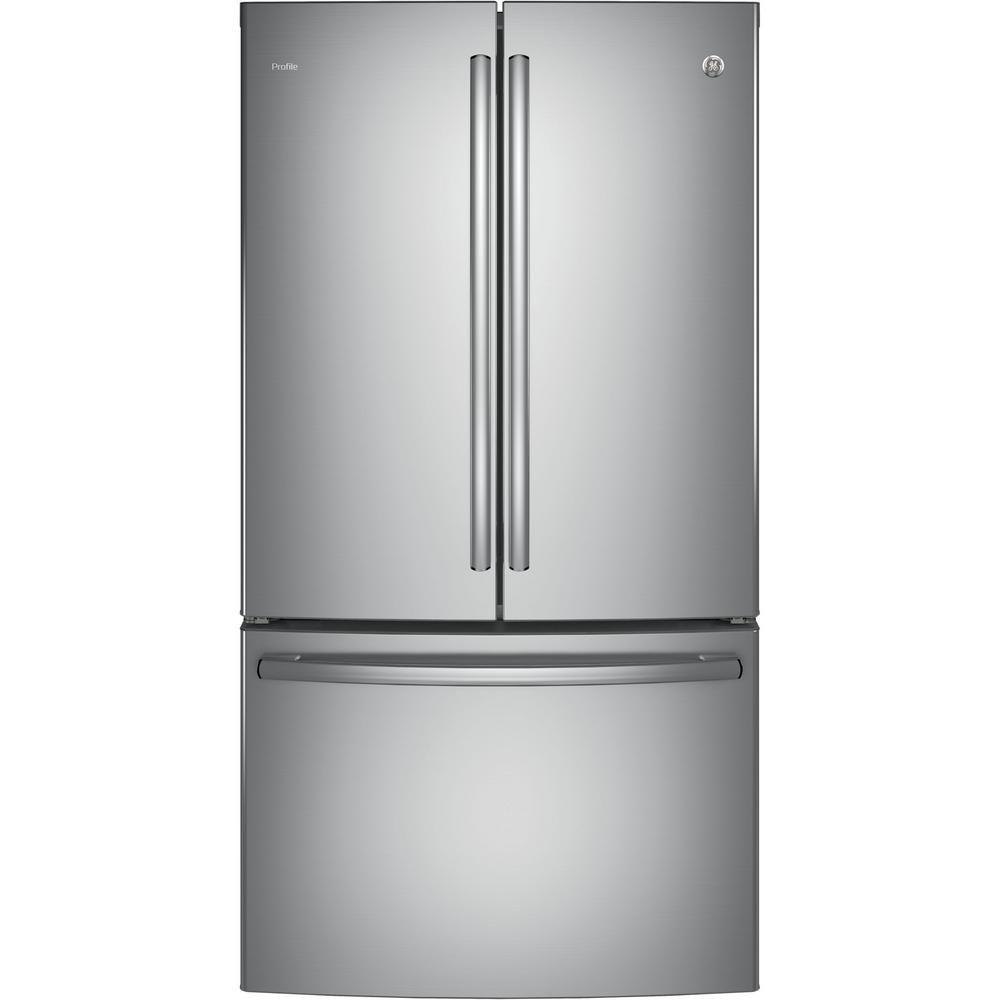 "GE 36"""" 23.1 cu. ft. French Door Refrigerator in Stainless Steel - ENERGY STAR®"
