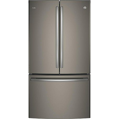 GE 36-inch W 23.1 cu. ft. French Door Refrigerator in Slate - ENERGY STAR®