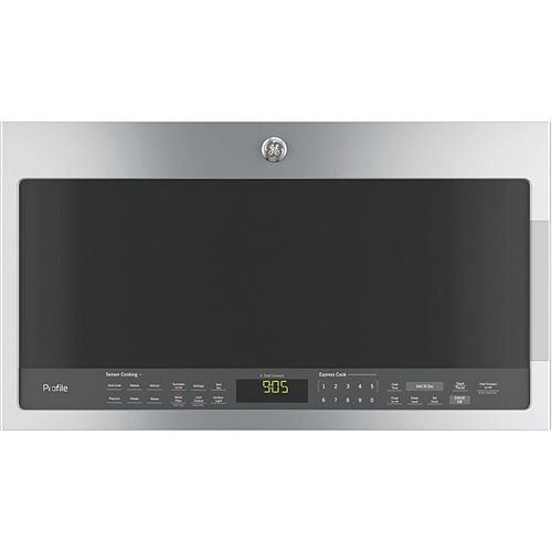 GE Profile 30-inch 2.1 cu. ft. Over the Range Microwave in Stainless Steel with Sensor Cooking