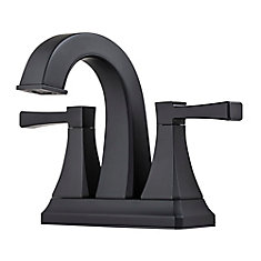 Halifax Centerset (4-inch) 2-Handle Mid Arc Bathroom Faucet with Lever Handles