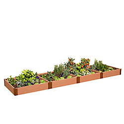 Frame It All Tool-Free Classic Sienna Raised Garden Bed 4 ft. x 16 ft. x 11 inch  2 inch profile